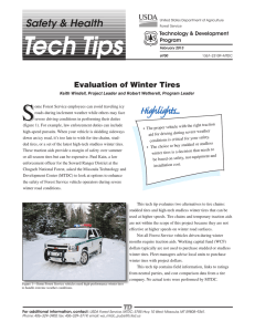 S Highlights... Safety & Health Evaluation of Winter Tires