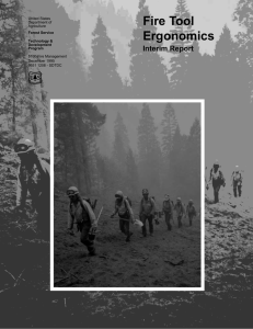 Fire Tool Ergonomics Interim Report Forest Service