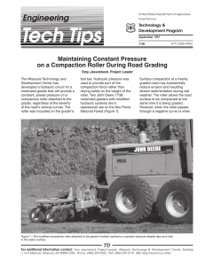 Engineering Maintaining Constant Pressure on a Compaction Roller During Road Grading Technology &