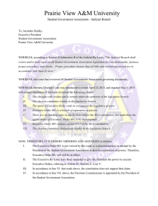 Prairie View A&M University Student Government Association - Judicial Branch