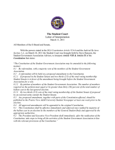 The Student Court Letter of Interpretation