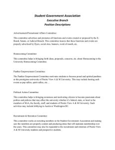 Student Government Association Executive Branch Position Descriptions