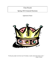 Class Royals Spring 2016 General Elections  Application Packet