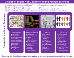 Division of Social Work, Behavioral and Political Sciences