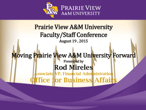 Prairie View A&M University Faculty/Staff Conference Moving Prairie View A&M University Forward