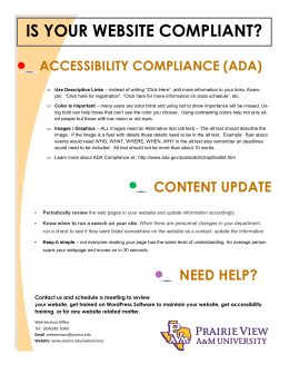IS YOUR WEBSITE COMPLIANT? ACCESSIBILITY COMPLIANCE (ADA)