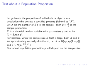 Test about a Population Proportion