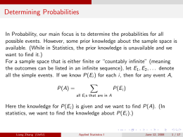 Axiomatic Probability Proposition