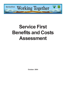 Service First Benefits and Costs Assessment October 2004