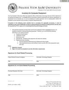 Inventory for Computer Equipment  Print Form