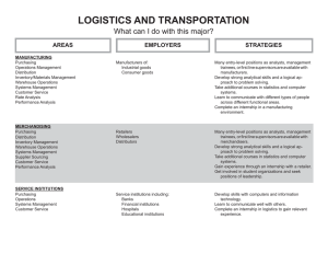 LOGISTICS AND TRANSPORTATION What can I do with this major? STRATEGIES AREAS