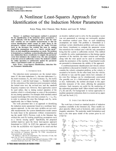 A Nonlinear Least-Squares Approach for Identification of the Induction Motor Parameters