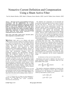 Nonactive Current Definition and Compensation Using a Shunt Active Filter