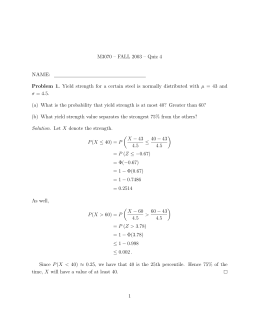 M3070 – FALL 2003 – Quiz 4 NAME: