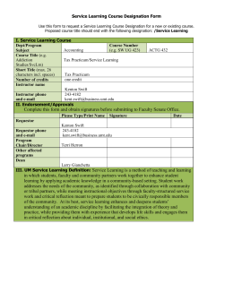 Service Learning Course Designation Form