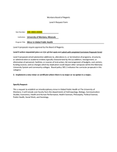 Montana Board of Regents Level II Request Form