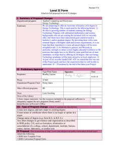 Level II Form  Department/program Summary