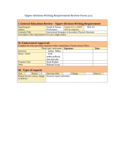 Upper-division Writing Requirement Review Form
