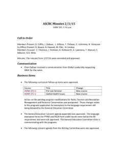 ASCRC Minutes 2/3/15 Call to Order