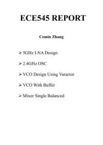ECE545 REPORT   5GHz LNA Design  2.4GHz OSC