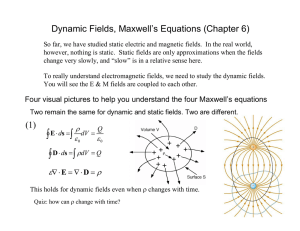 Dynamic Fields, Maxwell's Equations (Chapter 6)