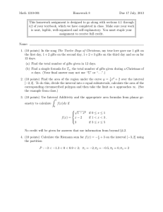Math 1210-001 Homework 8 Due 17 July, 2013
