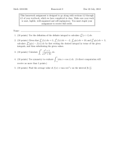 Math 1210-001 Homework 9 Due 22 July, 2013