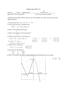 Problem Sheet #8 (3.4) Classlb: Name: 001 Spring 2013