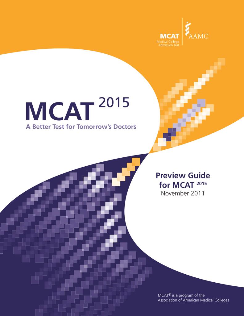 mcat 2015 preview guide for mcat rh studylib net 7 Moth MCAT 2015 Study Schedule Kaplan MCAT 2015