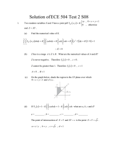 Solution of ECE 504 Test 2 S08 ( )