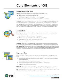 Core Elements of GIS Create Geographic Data