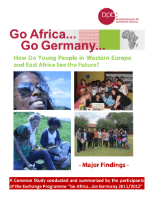 - Major Findings - How Do Young People in Western Europe