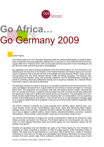 Go Africa… Go Germany 2009