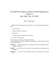 CS 420/594 Complex Systems & Self-Organization Project 2 Bruce J. MacLennan
