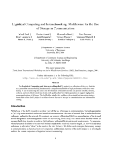 Logistical Computing and Internetworking: Middleware for the Use