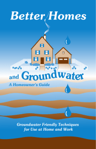 Better Homes Groundwater and A Homeowner's Guide