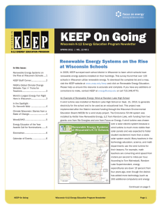 KEEP On Going Renewable Energy Systems on the Rise at Wisconsin Schools