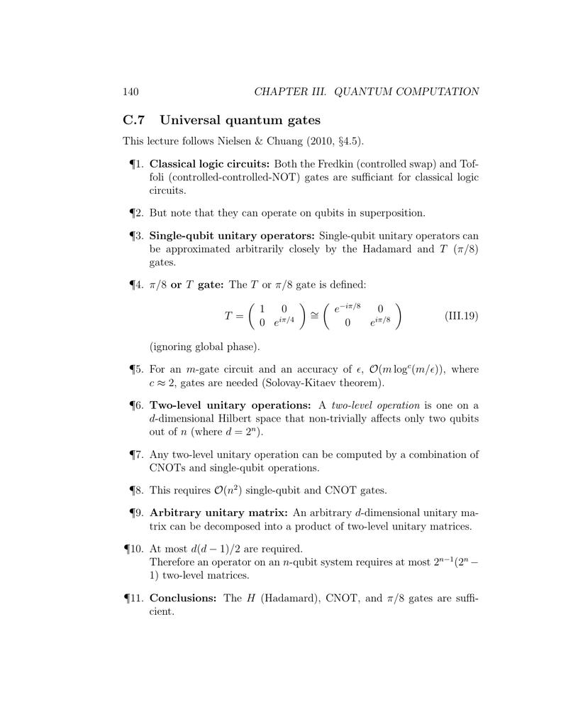 C7 Universal Quantum Gates Circuit Of Not Gate