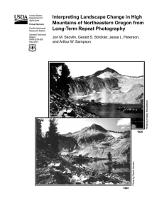 Interpreting Landscape Change in High Mountains of Northeastern Oregon from