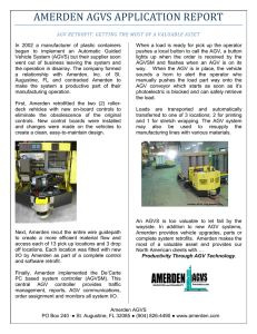 AMERDEN AGVS APPLICATION REPORT
