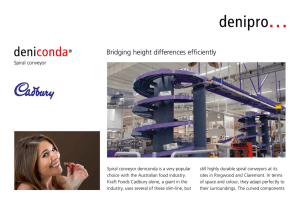 Bridging height differences efficiently Spiral conveyor