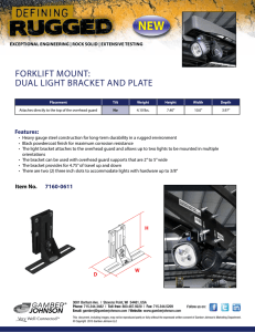 NEW FORKLIFT MOUNT: DUAL LIGHT BRACKET AND PLATE Features: