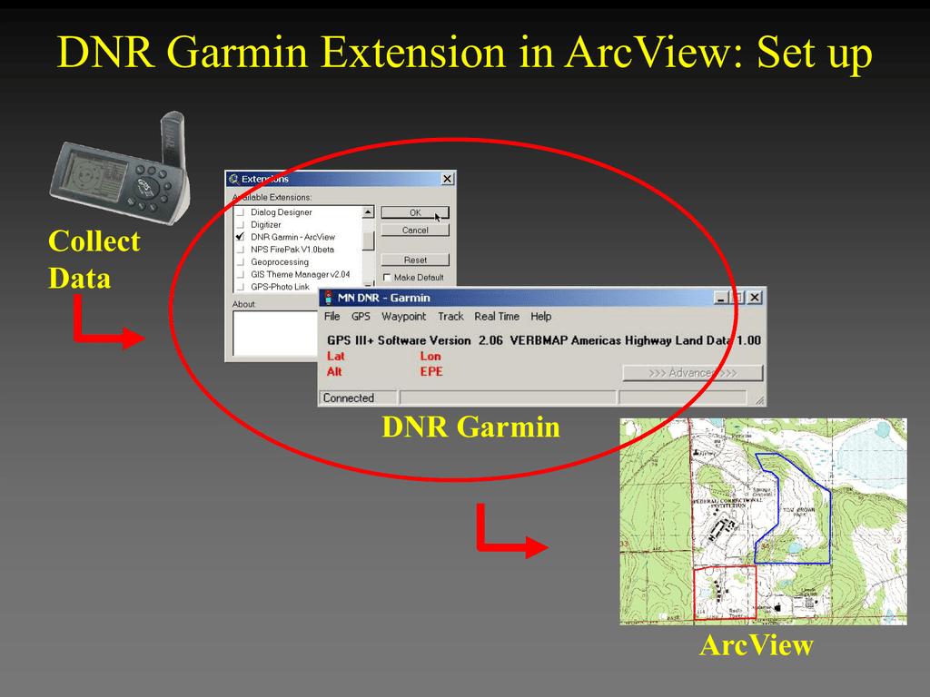 DNR Garmin Extension in ArcView: Set up Collect Data DNR Garmin