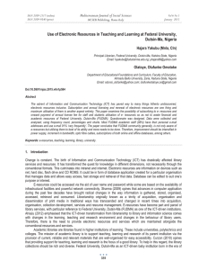 Use of Electronic Resources in Teaching and Learning at Federal... Dutsin-Ma, Nigeria Mediterranean Journal of Social Sciences Hajara Yakubu (Mnla, Cln)