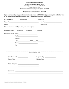 Request for Immunization Records
