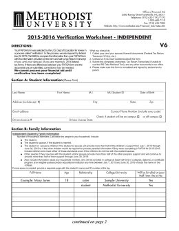 verification worksheet v6. Black Bedroom Furniture Sets. Home Design Ideas