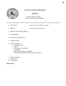 FACULTY SENATE MEETING  AGENDA
