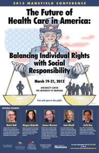 the Future of Health Care in america: Balancing Individual rights with Social