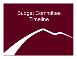 Budget Committee Timeline