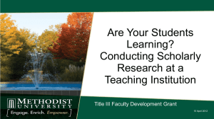 Are Your Students Learning? Conducting Scholarly Research at a